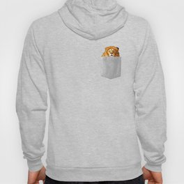 Lion In Your Pocket  - Funny Peeking Jungle King Hoody