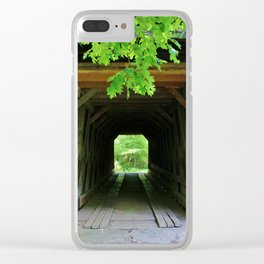In And Out Of Bridge Clear iPhone Case
