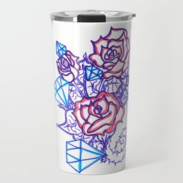 51. Women's love - Dimond and Rose  Travel Mug