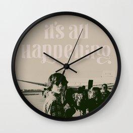 It's All Happening Wall Clock