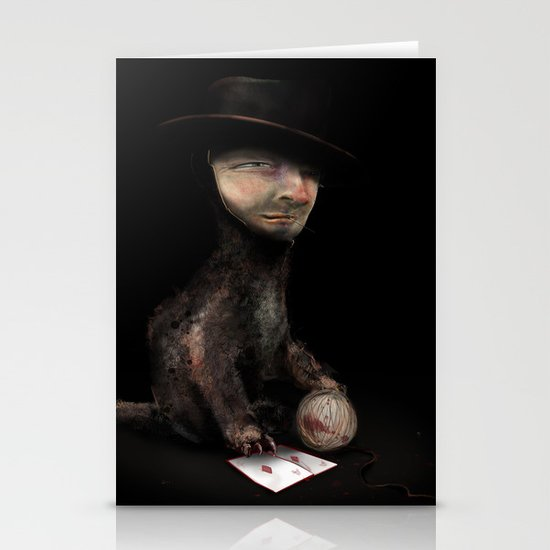 Charles the cat Stationery Cards