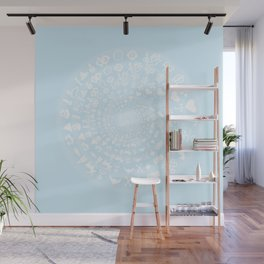 Snow & Ice Love Symbol Mandala Wall Mural
