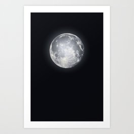 Supermoon Art Print