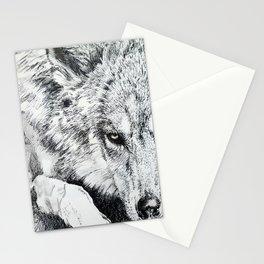 One-Eyed Wolf Stationery Cards