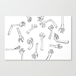 Severed Hands Canvas Print