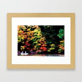 Fishing for Fall Framed Art Print