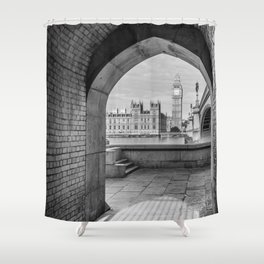Big ben and bridge Shower Curtain