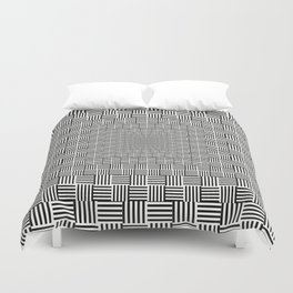 Black & White Basket Weave Duvet Cover