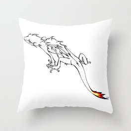 Little Flame-tailed Dragon Throw Pillow