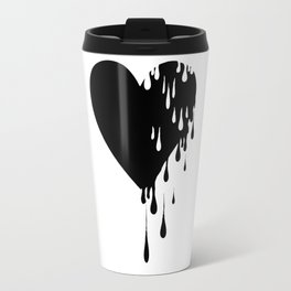 Bleeding Black Heart Travel Mug