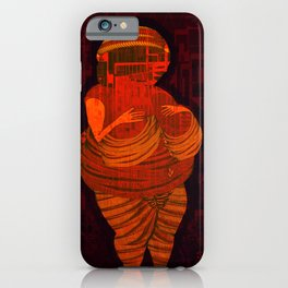 Echoes from the past, Venus of Willendorf, that go to the future, Version by Menchulica iPhone Case