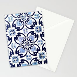 Azulejos, moroccan tiles, Painted tiles, blue, white, portugal Stationery Cards