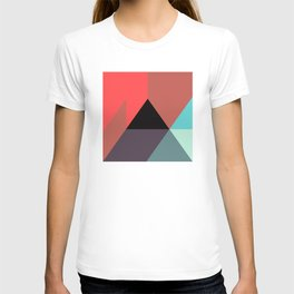 Red Black Blue Triangles T-shirt
