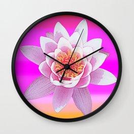 Ninfea Rose Wall Clock