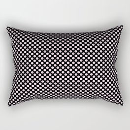 Black and Ballet Slipper Polka Dots Rectangular Pillow