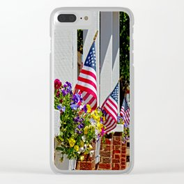 Flags & Flowers Clear iPhone Case