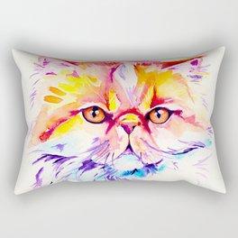 Persian Cat Watercolor Painting Rectangular Pillow
