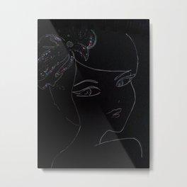 black flower Metal Print