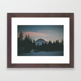 Frozen Mirror Lake Framed Art Print