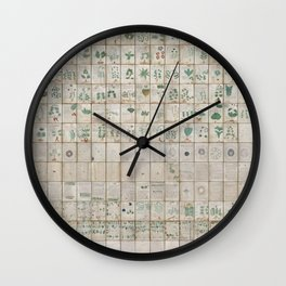 The Complete Voynich Manuscript - Natural Wall Clock