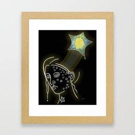 """""""Twinkle Twinkle"""" Illustration by Sheila Fein Poem by Cathy Fuller Framed Art Print"""