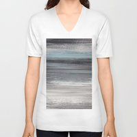 the strokes V-neck T-shirts featuring Stripes & Strokes by Allison Kiloh