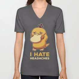 I Hate Headaches Unisex V-Neck