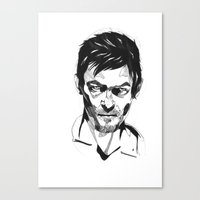 daryl Canvas Prints featuring Daryl by Giorgia Ruggeri