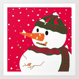 Snowman-Christmas Series Art Print