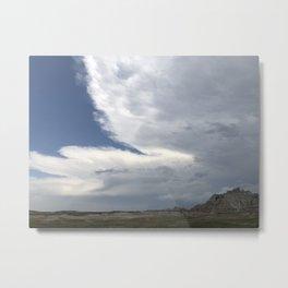 Big Sky Over the Badlands Metal Print