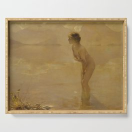 September Morn by Paul Émile Chabas, 1912 Serving Tray