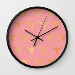Pink western Wall Clock
