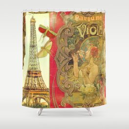 The Crickets of Paris Shower Curtain