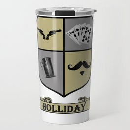 Doc Holliday Coat of Arms Travel Mug
