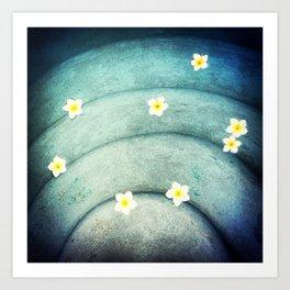 Pool Lilies  Art Print