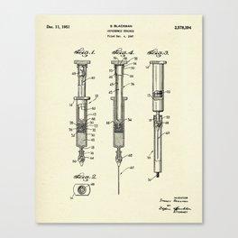 Hypodermic Syringe-1947 Canvas Print