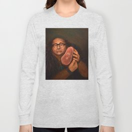 Danny DeVito with his beloved ham Long Sleeve T-shirt