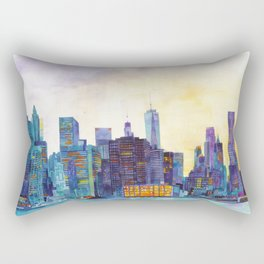 NYC panorama Rectangular Pillow
