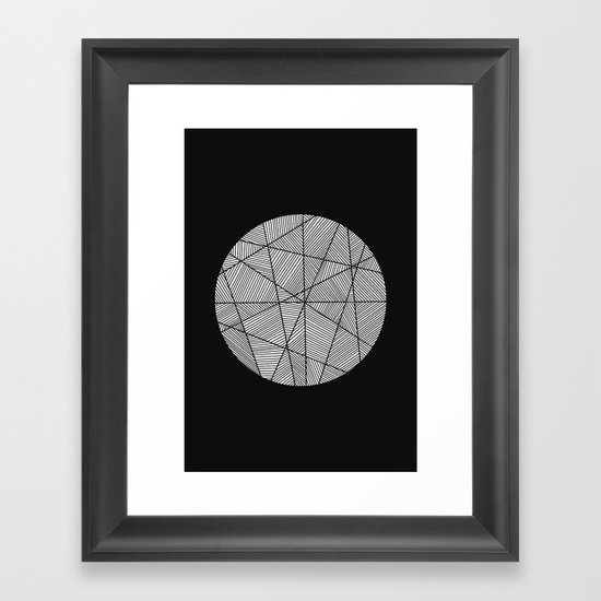 Circular Framed Art Print