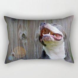 Pit-iful Smile Rectangular Pillow