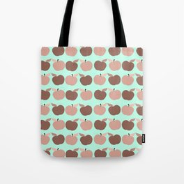apples, apples, pretty apples pink and blue Tote Bag