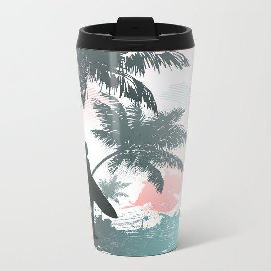 Summer beach Metal Travel Mug