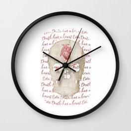 even death has a heart Wall Clock
