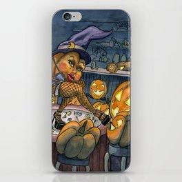 Pumpkin Stripper iPhone Skin
