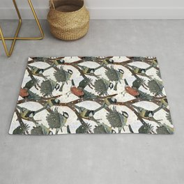 Magical Winter birds Rug