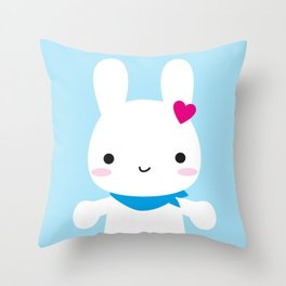 Super Cute Kawaii Bunny Throw Pillow