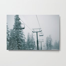 Ski Lift II Metal Print