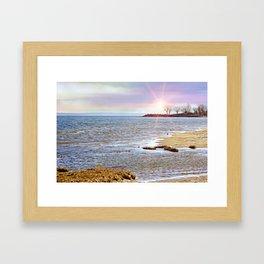 Sunset At The Beach - Tod's Point Framed Art Print