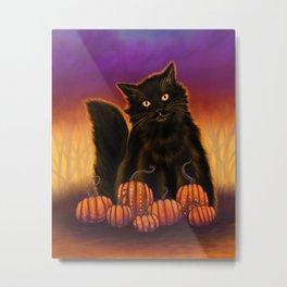 Cat Spirit of Halloween Metal Print
