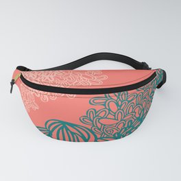 Floral Reef Fanny Pack